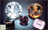Picture of miscellaneous colored quartz gems