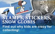 Kids Collecting: Stamps, Stickers, Snowglobes