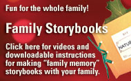 Videos and Instructions for making Family Storybooks /></a></td>